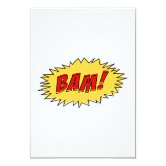 Muestra del Bam Invitación 8,9 X 12,7 Cm