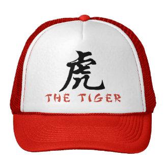 Muestra del chino del tigre gorro de camionero