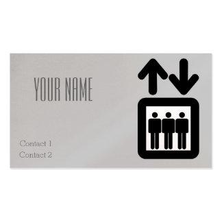 muestra del elevador tarjetas de visita