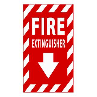 muestra del extintor tarjetas de visita
