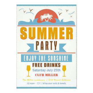 Muestra del fiesta del verano - invitación 5x7