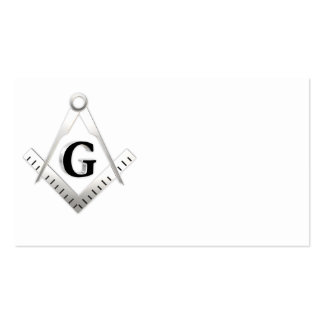 Muestra del Freemasonry Tarjetas De Visita