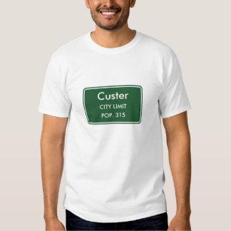 Muestra del límite de ciudad de Custer Michigan Camisas