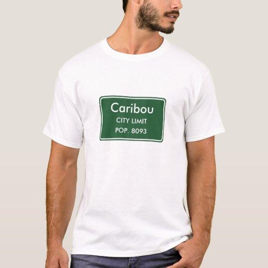 Muestra del límite de ciudad de Maine del caribú Camiseta