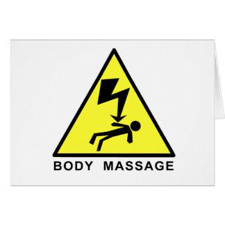 Muestra del masaje del cuerpo tarjetón