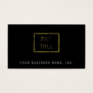 Muestra del peaje de la paga tarjeta de negocios