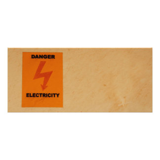 Muestra del peligro de Elcetricity Diseños De Tarjetas Publicitarias
