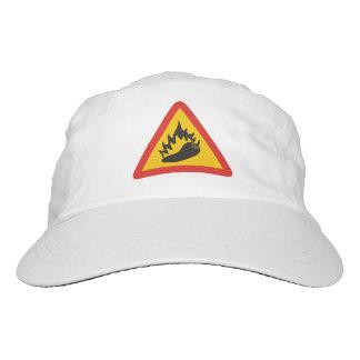 Muestra del peligro del pimiento picante gorra de alto rendimiento