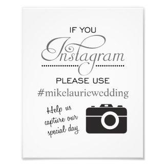 Muestra del poster del boda de Instagram - gris de Fotografía