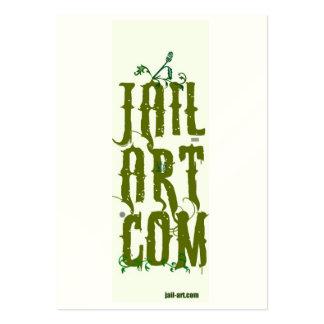 muestra del puño de jail-art.com tarjetas de visita grandes