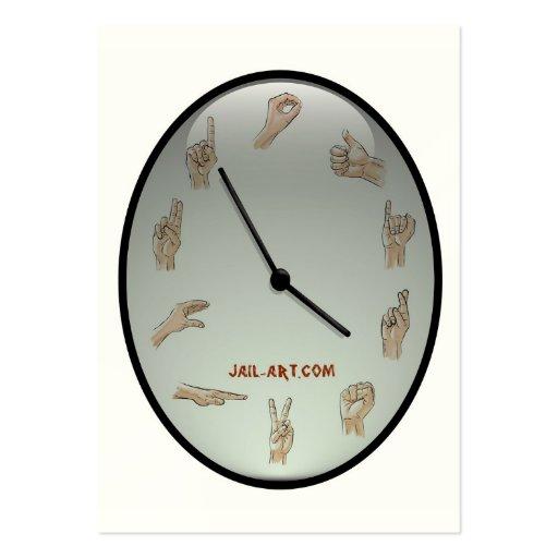 muestra del puño de jail-art.com tarjetas de negocios