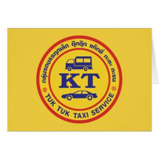 Muestra del servicio del taxi de Tuk Tuk, Tarjeta