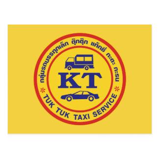 Muestra del servicio del taxi de Tuk Tuk, Tarjetas Postales