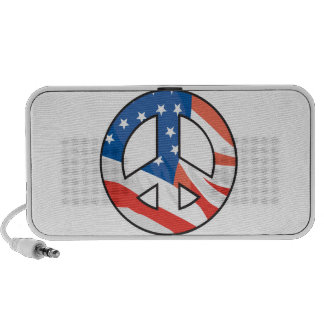 muestra del símbolo de paz de la bandera americana iPhone altavoces