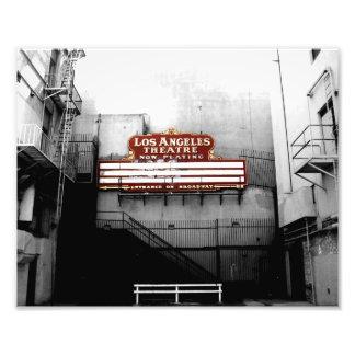 Muestra del teatro de Los Ángeles del vintage Fotografia