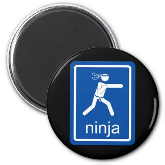 muestra del universal del ninja imán redondo 5 cm