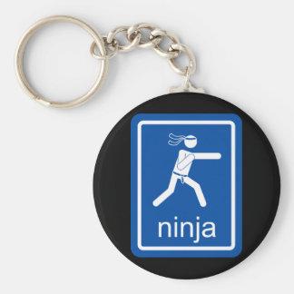 muestra del universal del ninja llavero redondo tipo chapa