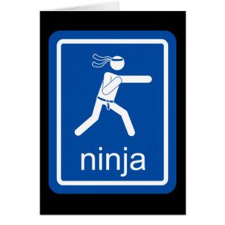 muestra del universal del ninja tarjeta de felicitación