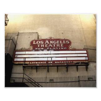 Muestra del vintage del teatro de Los Ángeles Fotografia