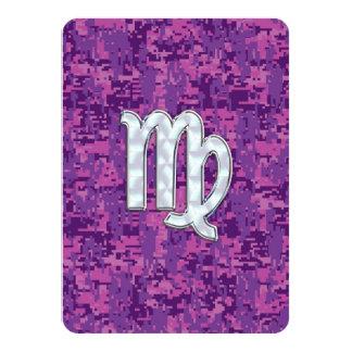 Muestra del virgo en el camuflaje fucsia rosado de invitación 11,4 x 15,8 cm