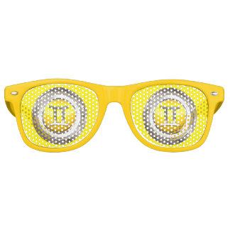 Muestra del zodiaco de los géminis gafas de fiesta