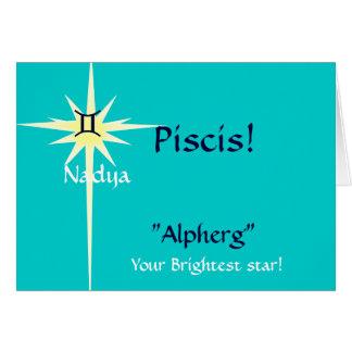 Muestra del zodiaco de Piscis modificada para Tarjeta De Felicitación