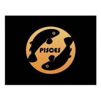 Muestra del zodiaco de Piscis Postal