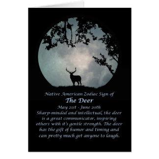 Muestra del zodiaco del nativo americano de los tarjeta de felicitación