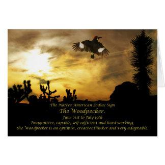 Muestra del zodiaco del nativo americano el tarjeta de felicitación