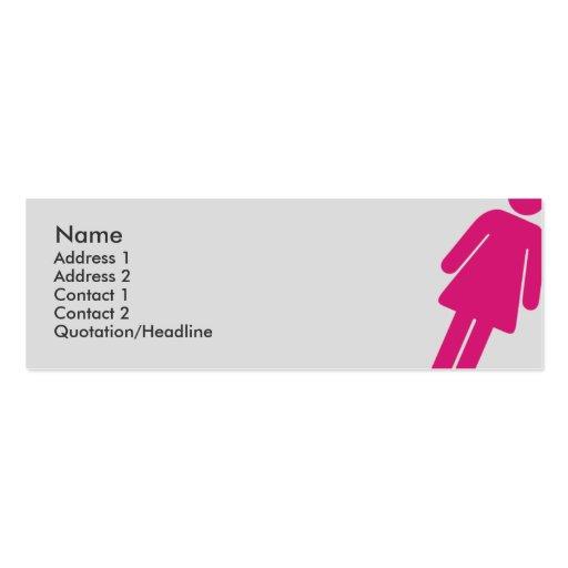 Muestra femenina - flaca plantillas de tarjeta de negocio