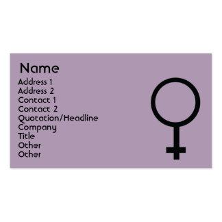 Muestra femenina - negocio tarjetas de visita