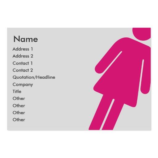 Muestra femenina - rechoncha tarjetas de visita