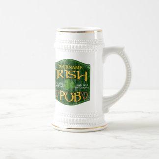Muestra irlandesa personalizada del Pub Taza