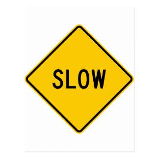 Muestra lenta de la carretera postal
