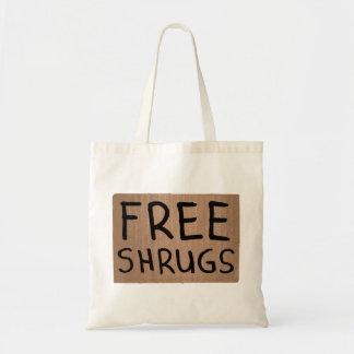 Muestra libre de la cartulina de los encogimientos bolsas lienzo