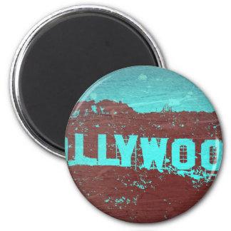 Muestra Los Ángeles de Hollywood Imán Redondo 5 Cm