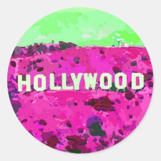 Muestra Los Ángeles de Hollywood Pegatina Redonda