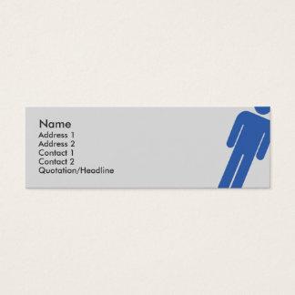 Muestra masculina - flaca tarjeta de visita pequeña