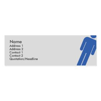 Muestra masculina - flaca tarjetas de visita mini