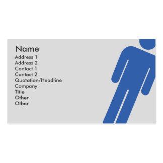 Muestra masculina - negocio plantilla de tarjeta de negocio
