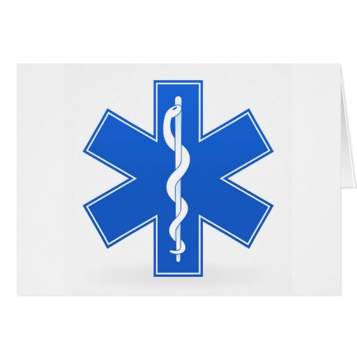 Muestra médica azul felicitación