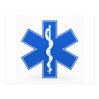 Muestra médica azul postal