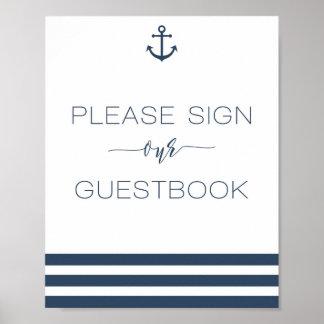 Muestra náutica del boda nuestro libro de visitas