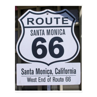 Muestra oficial Santa Mónica del extremo de la rut Postal