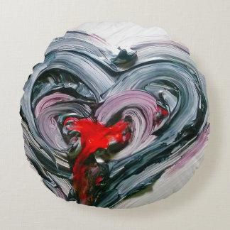 Muestra profunda cepillada personalizado del amor cojín redondo