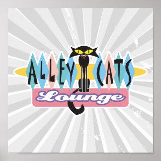 muestra retra del salón de los gatos callejeros póster
