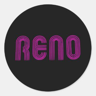 Muestra rosada de Reno Pegatina