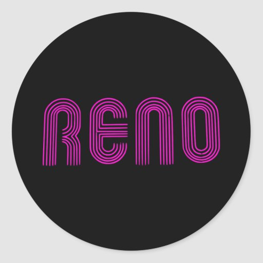 Muestra rosada de Reno Pegatina Redonda
