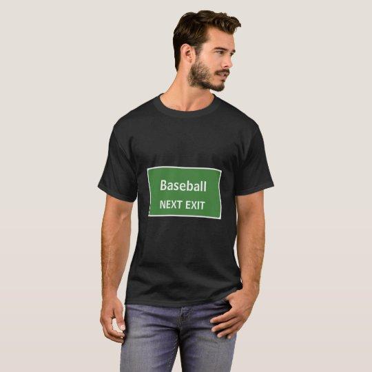 Muestra siguiente de la salida del béisbol camiseta