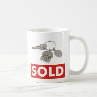 Muestra vendida blanca roja de los agentes taza de café